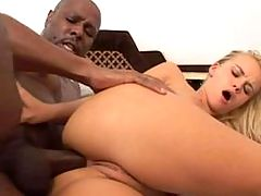 White chick gets fucked hard by ebony couple